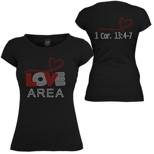 LOVE AREA BLING TEE