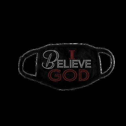 I BELIEVE GOD BLING MASK