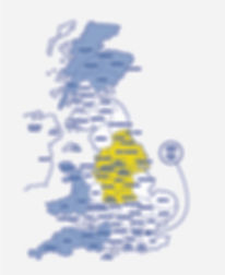 HRG Counties Service Map - Yellow White