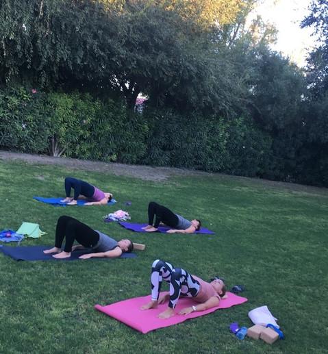 Yoga i hagen
