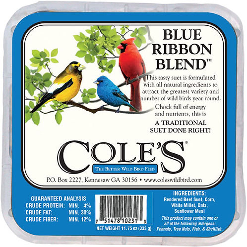Blue Ribbon Blend Suet 12oz