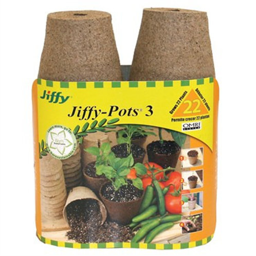 "Jiffy Peat Pots 3"" 22pk"