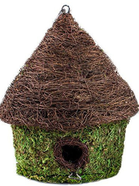SuperMoss Woven Bungalow Birdhouse