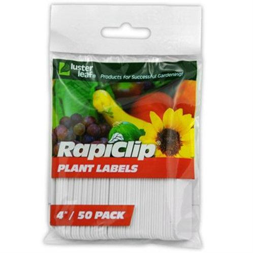 """Plastic Plant Labels 4"""" 50pk"""