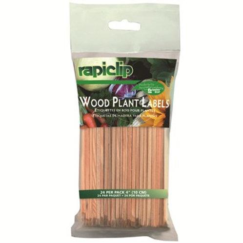 """Wood Plant Labels 4"""" 24pk"""