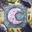 "Thumbnail: Amethyst Midnight Moon Watercolor Art 8x8"""