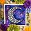 "Thumbnail: Signature Nebula B&W Moon Watercolor Art 8x8"""
