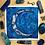 "Thumbnail: Deep Depths Moon Watercolor Art 8x8"""