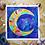 "Thumbnail: Signature Pastel & Gold Moon Watercolor Art  10x10"""