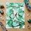 "Thumbnail: Malachite Fluid Art  5x7"""