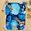 Thumbnail: Blue Apatite Fluid Art  5x7""
