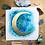 "Thumbnail: Gold Ocean Moon Watercolor Art 8x8"""
