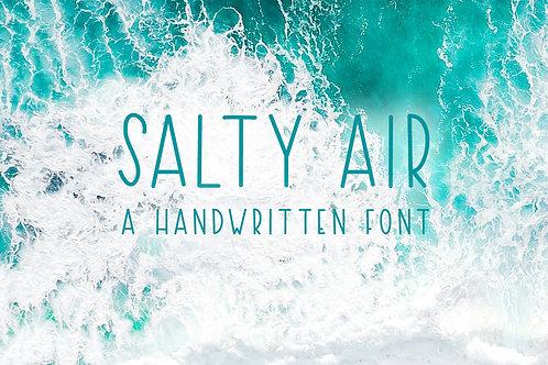 Salty Air - A Handwritten Font