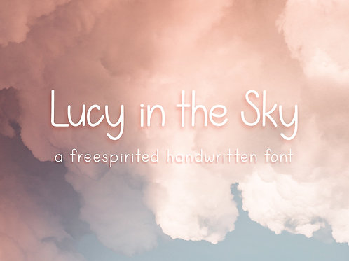 Lucy in the Sky - A Handwritten Font