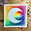"Thumbnail: Signature Silver Rainbow Moon Watercolor Art 8x8"""
