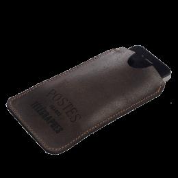 Etui Mobile cuir brun