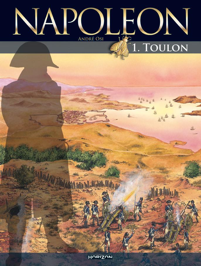 Une couverture d'une des BD de la série Napoléon par André Osi