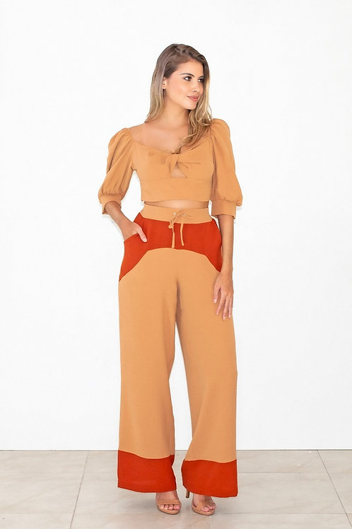 Blusa Crepe Cropped