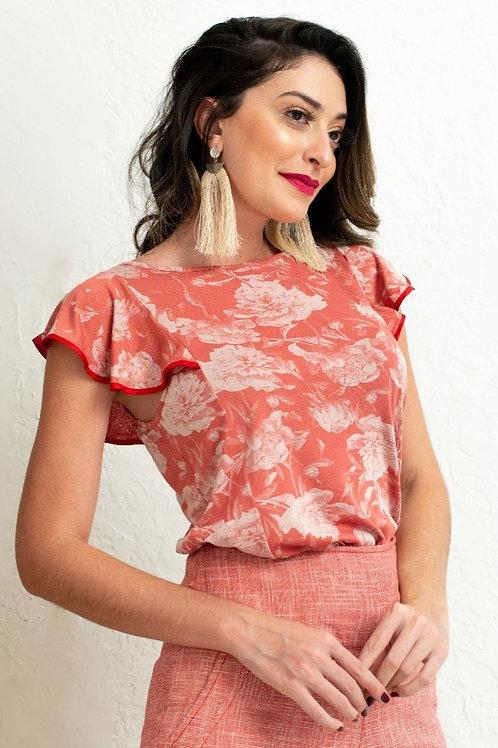 Blusa Malha Viscose Rosê