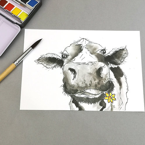Camiila Moo, Indian Ink Print
