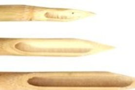 Set of 3 shaped chinese bamboo dip pens