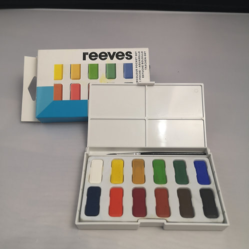 Reeves Watercolour, 12  colour- Poket Set