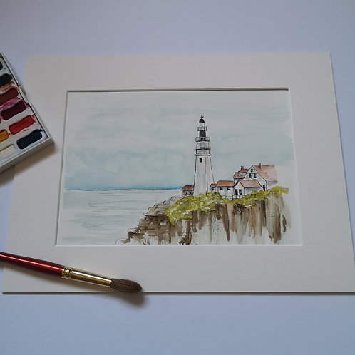 The Lighthouse, original  Watercolour