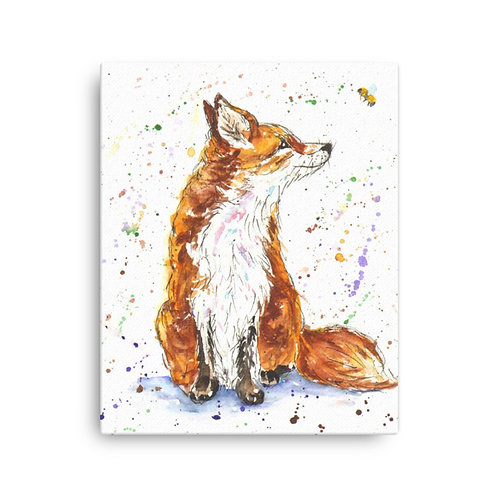 Amber Fox   Canvas Print
