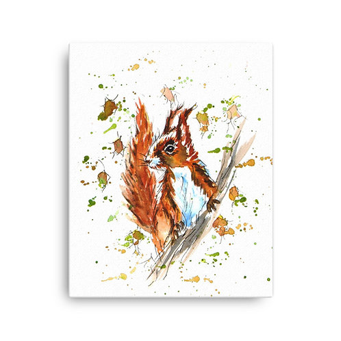Twiggy Squirrel,  Canvas Print