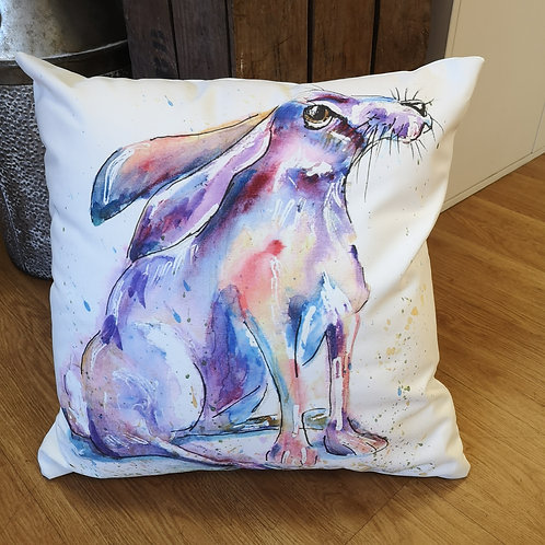 Day Dreamer Hare, Cotton Canvas Cushion