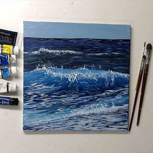 Creating waves in acrylic