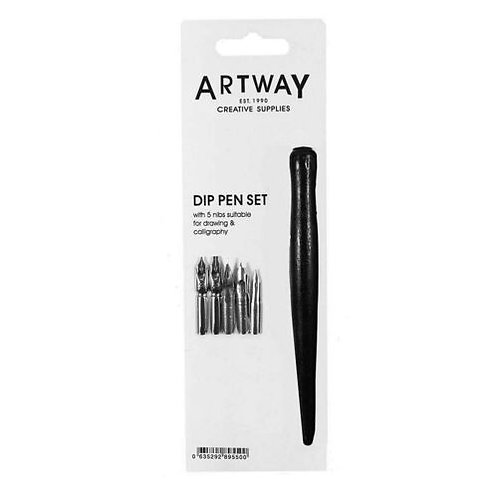 Artway Dip Pen Set with 5 Drawing & Calligraphy Nibs