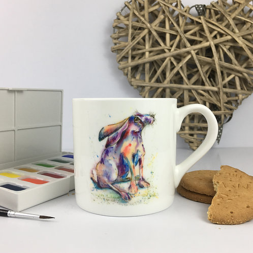Day Dreamer Hare, Bone China Mug