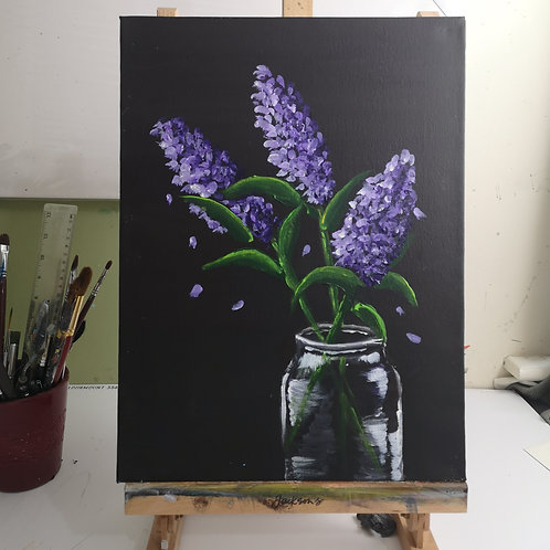 Lilac, 12 x 16 inch acrylic on canvas