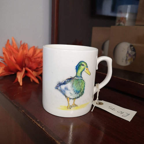 Puddle Duck, Bone China Mug