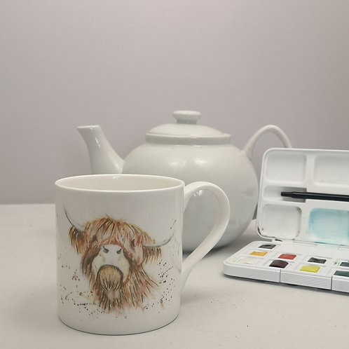 Fergus Highland Cow  Bone China Mug