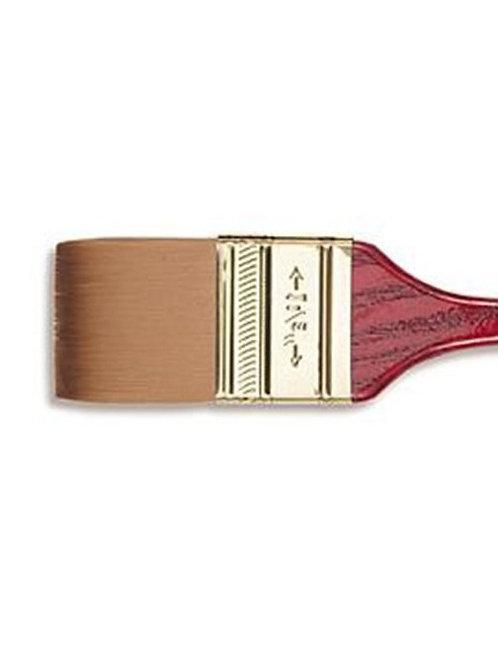 "Artway 1.5"" Flat Wash Paint Brush - Wooden Handle - Nylon Bristles"