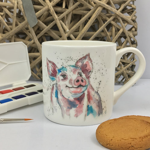Percival Piggy, Bone China Mug