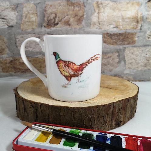 Forest Pheasant bone china mug