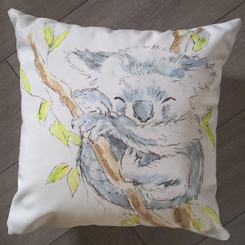 Kola the Koala. cotton canvas cushion