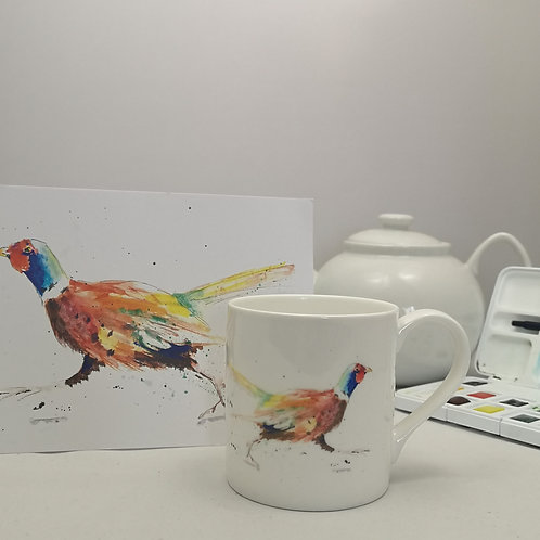 Run Forest Pheasant Mug &  Print Offer