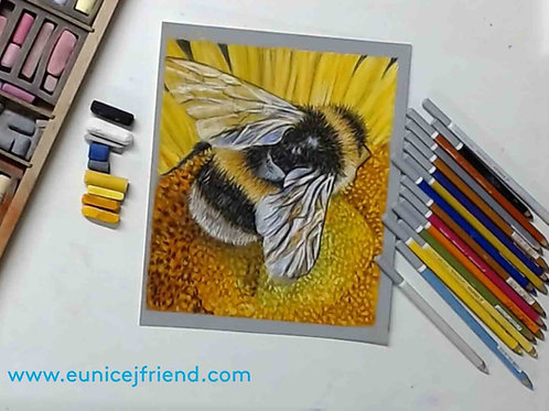 Bumble Bee Pastel 2 part Tutorial