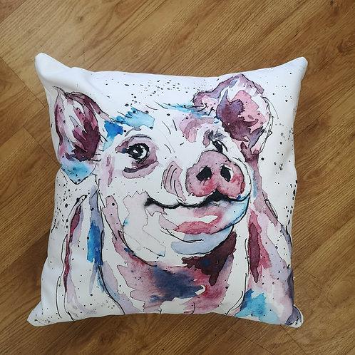 Percival Piggy, Cotton Canvas Cushion