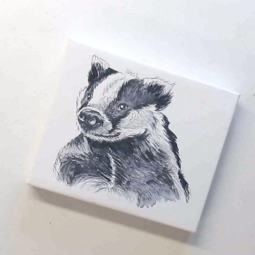 Baldrick Badger Canvas Print