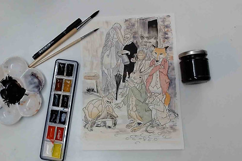 Arthur Rackham Illustration  Ink & Watercolour Tutorial