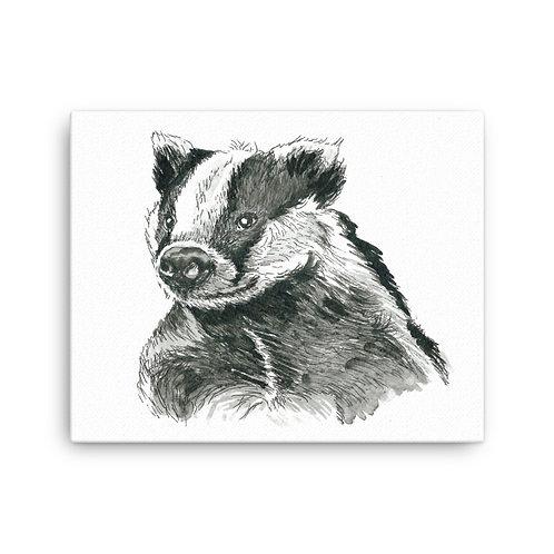 Baldrick Badger,  Canvas Print