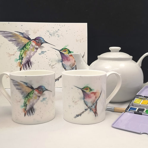 The Hummingbirds, Bone China Mug