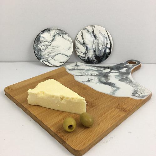 Resinate serving platter set