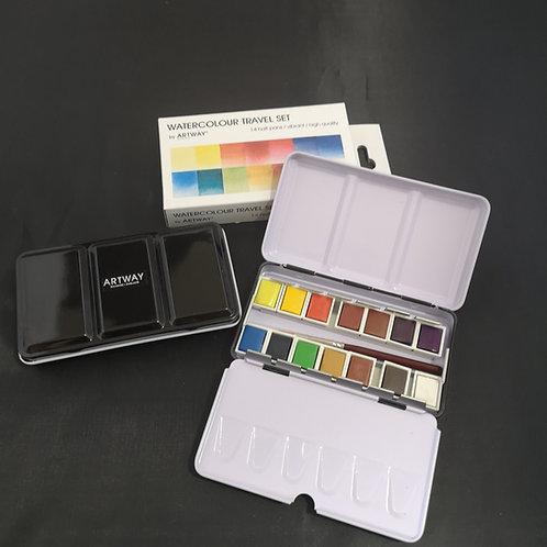 Artway Watercolour Paint set 14 - colours