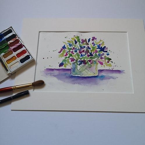 Sweet peas, Orignal Watercolour